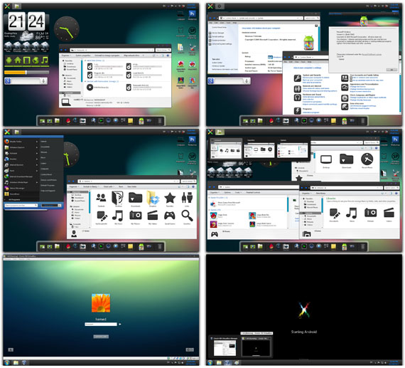 Download Android Jelly Bean Skin Pack 4.0 Win7