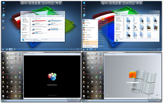 Download Crystal Skin Pack 1.0 for Win7