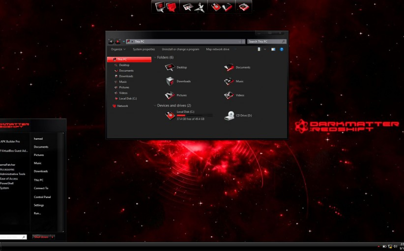 BlackMatter Red SkinPack for Windows 10 and 7