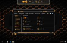 HUD Gold SkinPack for Win10 released