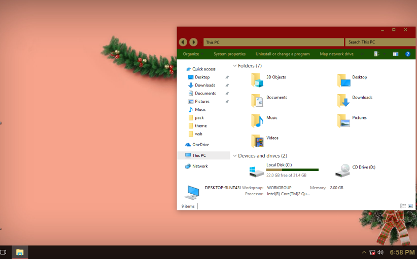 My Christmas ThemePack for Win 10RS3