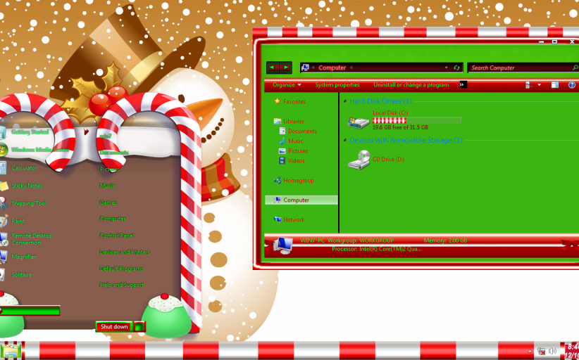 Christmas Magic ThemePack for Win7