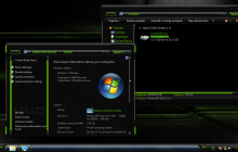 HUD Green ThemePack for Win7/8/8.1