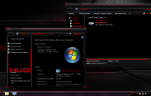HUD Red ThemePack for Win7/8/8.1