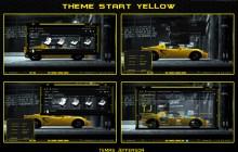 new theme para windows 7 start yellow