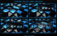 new theme para windows 7 Blue and Black