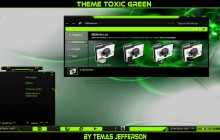New Theme Toxic Green For Windows 7
