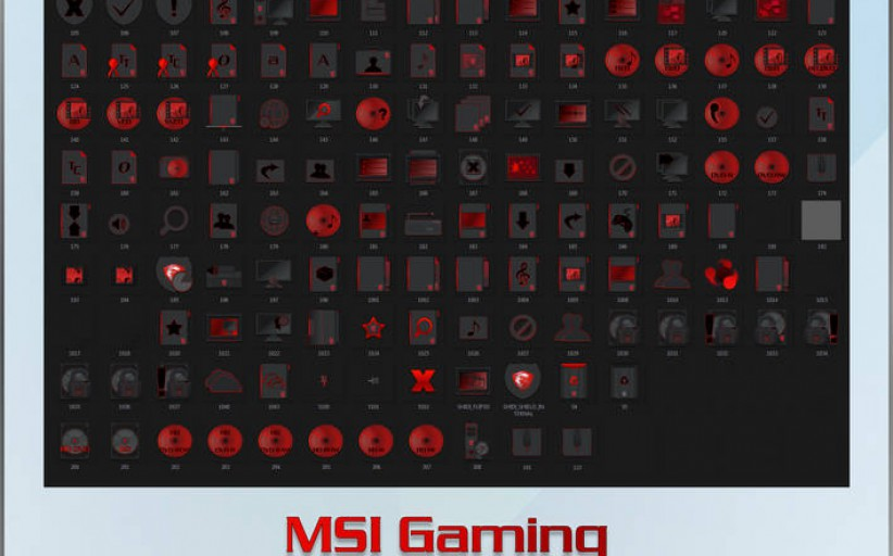 MSI Gaming iPack and 7TSP Icons Pack