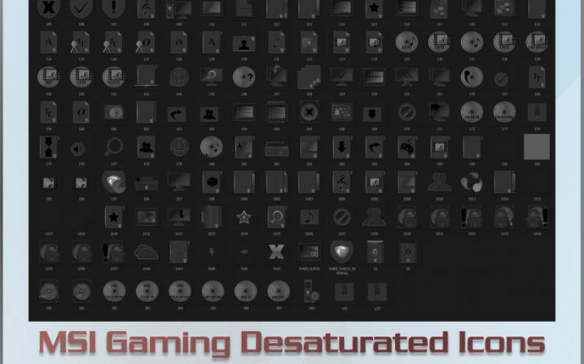 MSI Gaming Desaturated Icons Windows 7-10