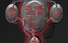 Brain Interactive Construct - Red - for Rainmeter