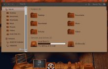macOS Wood SkinPack for Windows 7\8.1\10 19H2