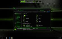 HUD Green SkinPack for Windows 7\8.1\10 19H2