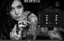 amana dark SkinPack for Windows 10