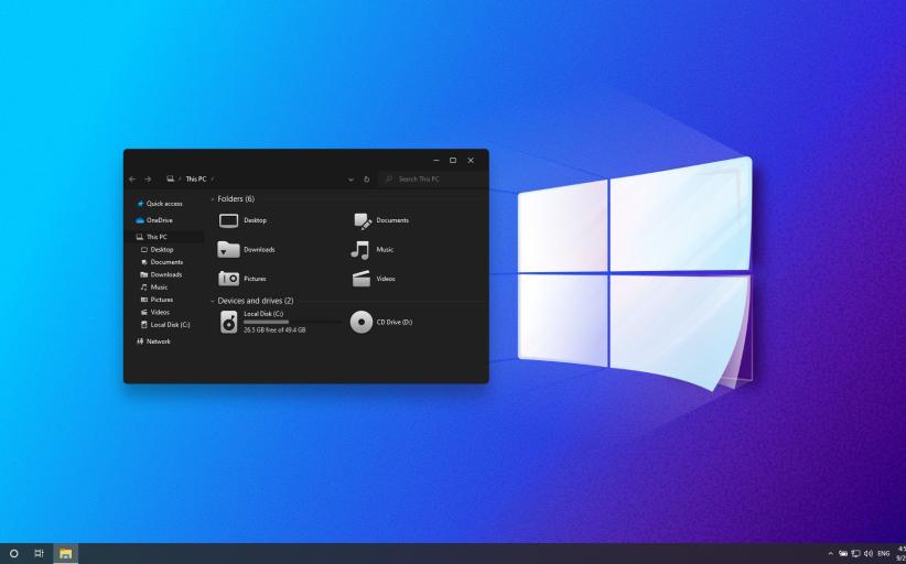 Windows 11 Modern Dark SkinPack for Windows 10