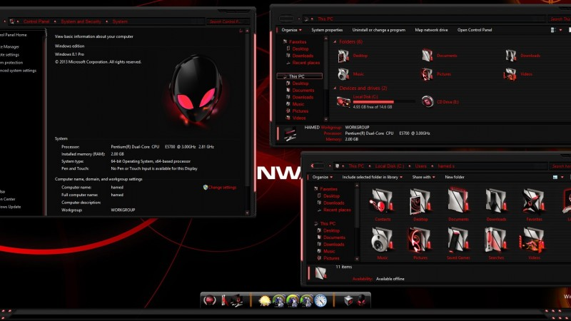AlienRed Skin Pack