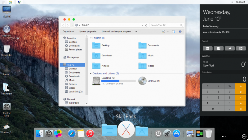 Mac OS X EL Capitan Skin Pack