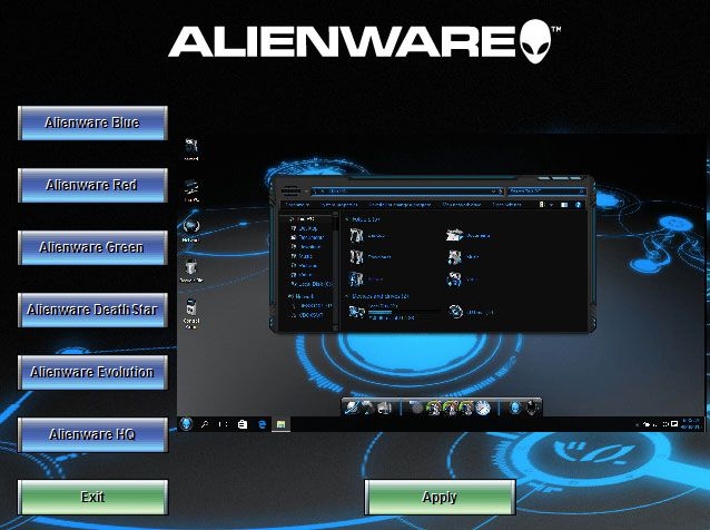 Alienware SkinPack Collections for Win10/8.1/7