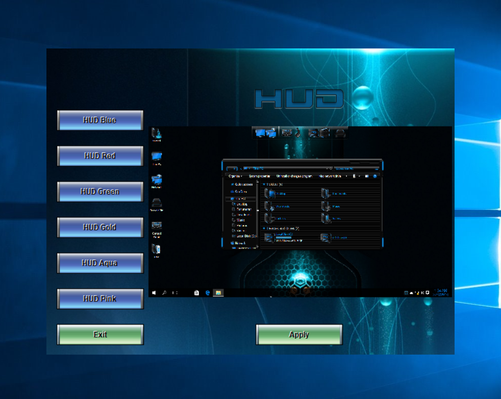 HUD SkinPack Collections for Win10/8.1/7