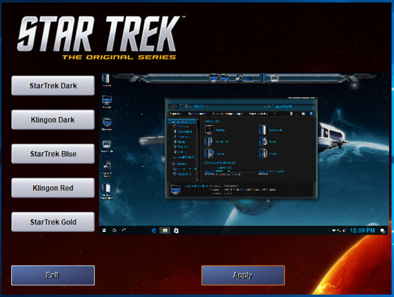 Star Trek SkinPack Collections for Win7