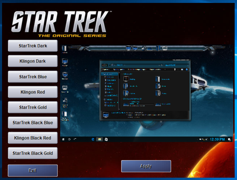 Star Trek Skin Pack Collections for Windows 7/10