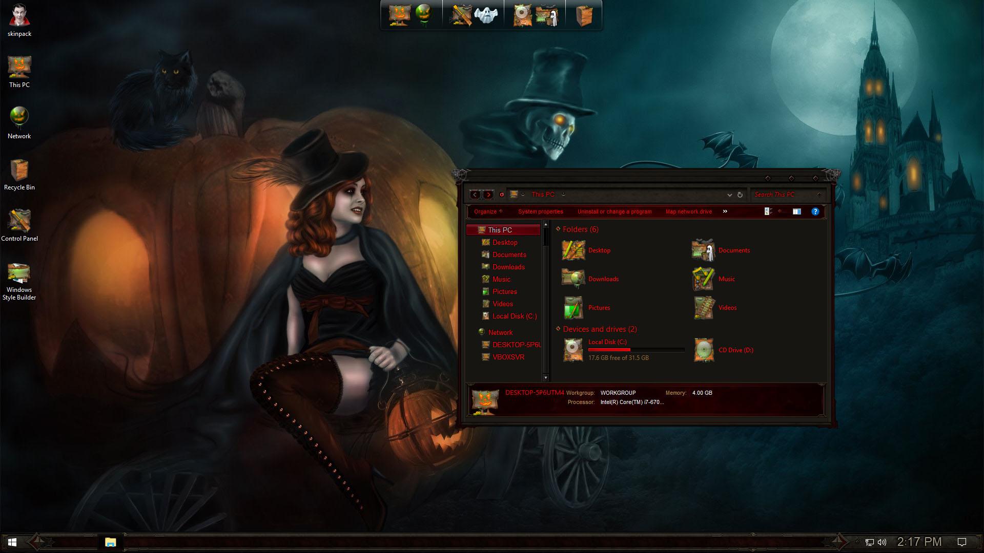 Halloween SkinPack for Windows 7\8.1\10 RS5