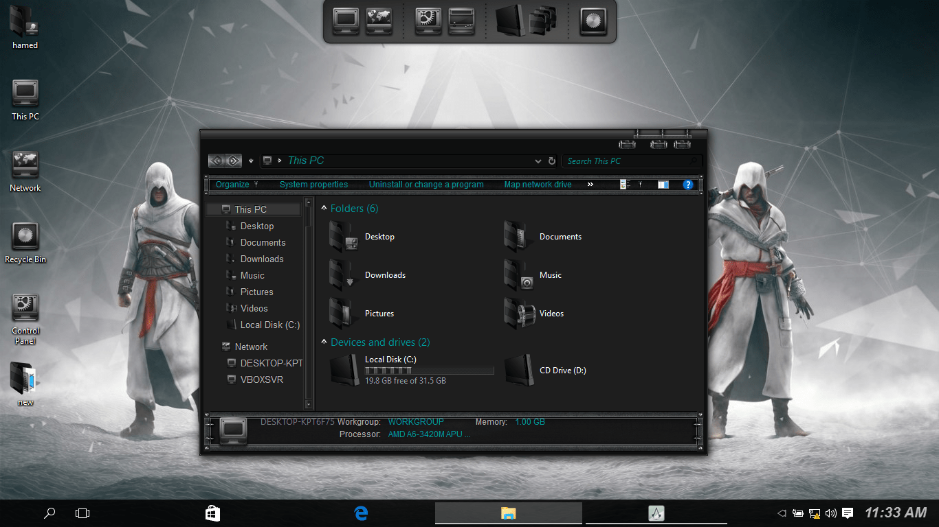 Assassin's Creed SkinPack for Windows 7\8.1\10 19H1 19H2 20H1