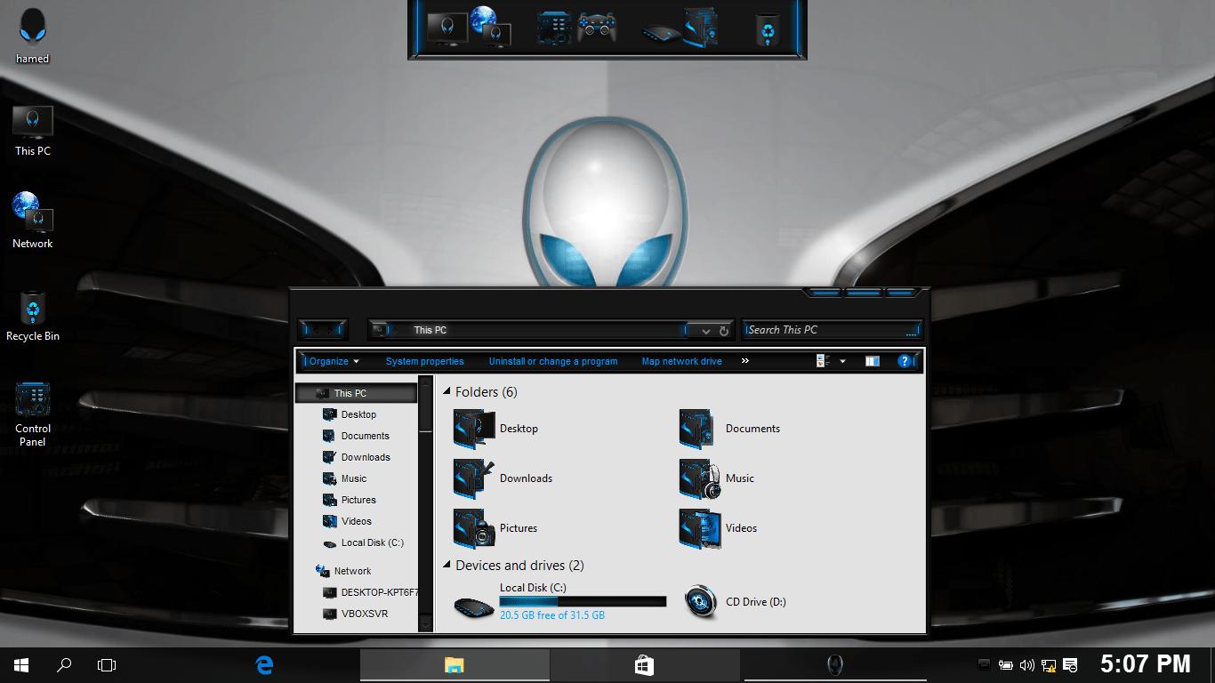 Alienware White SkinPack for Windows 7\8.1\10 19H2