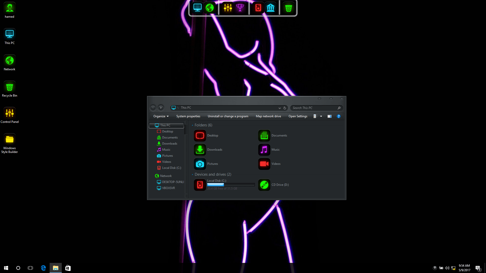 Neon SkinPack for Windows 7\8.1\10 19H2