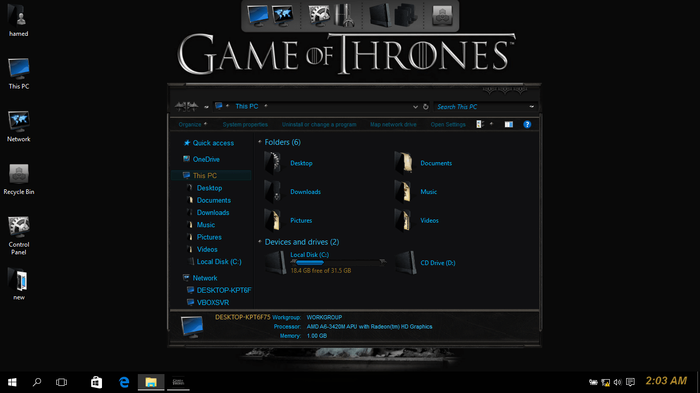 Game Of Thrones SkinPack for Windows 7\8.1\10 19H2