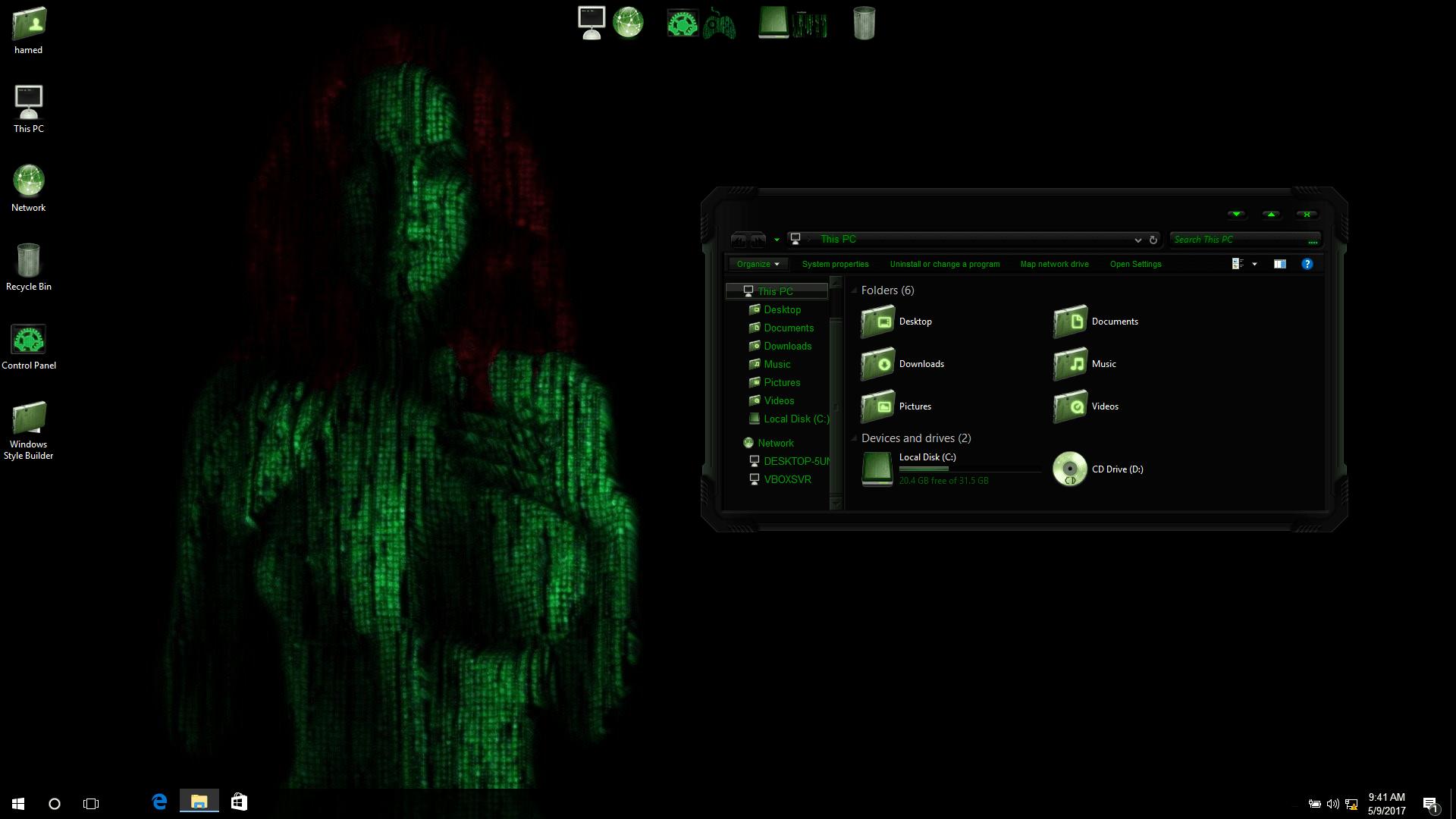 Matrix SkinPack for Windows 10 and 7/8