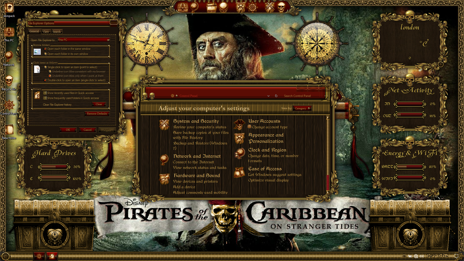 Pirates of the Caribbean Premium SkinPack for Windows 10