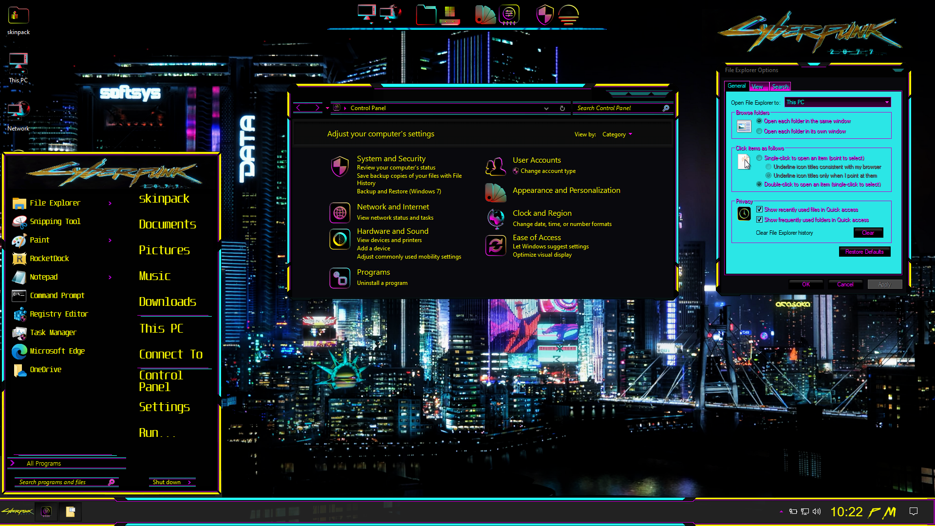 Cyberpunk 2077 Premium SkinPack for Windows 10