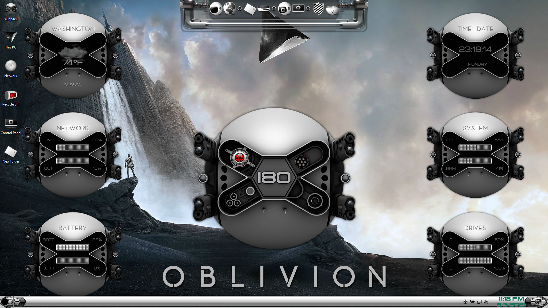 OBLIVION Premium SkinPack for Windows 10