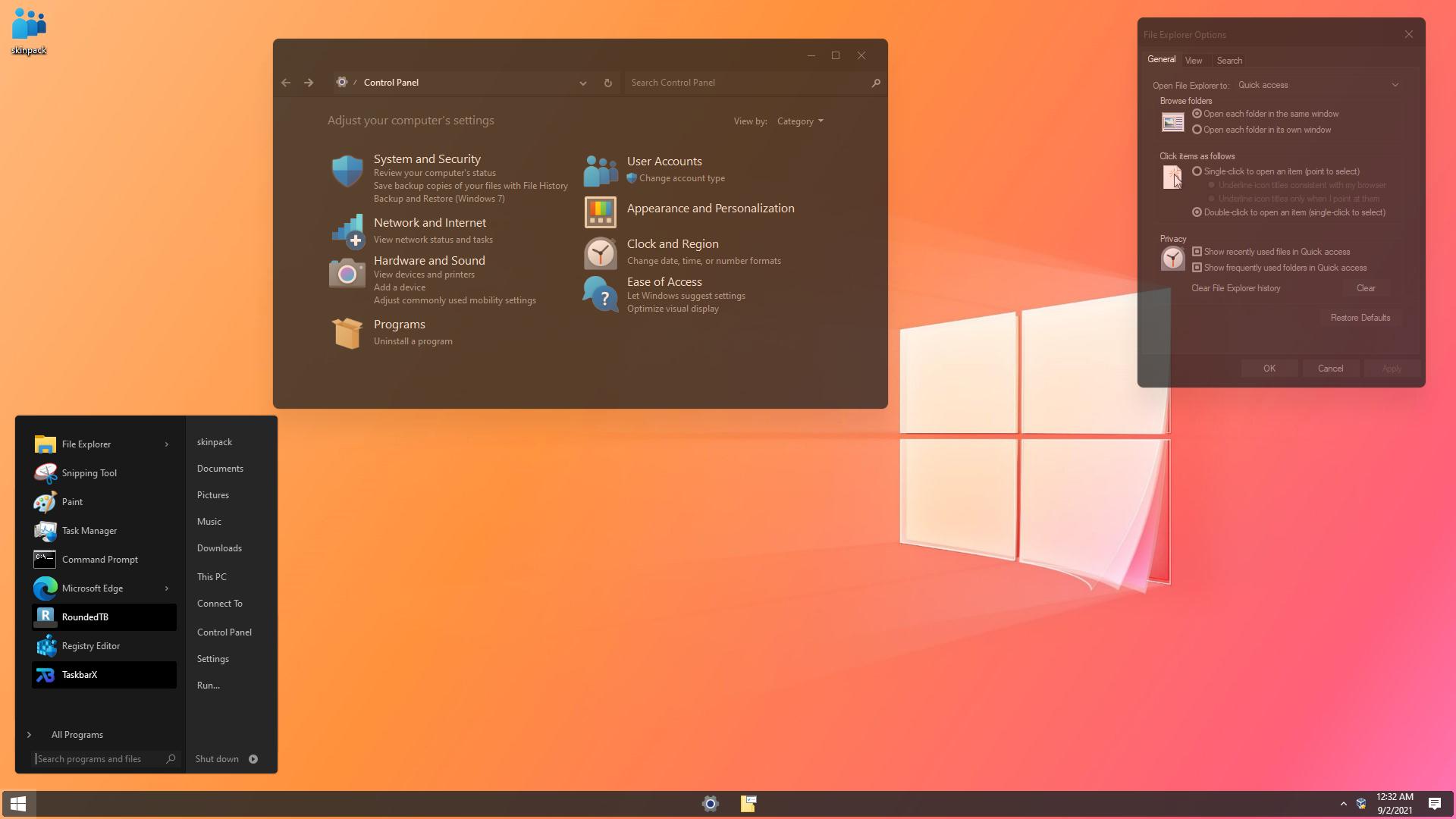 Windows 20 Dark SkinPack for Windows 10