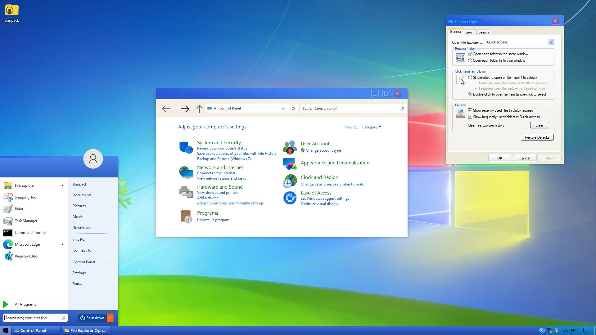 Modern XP Skin Pack for Windows 10
