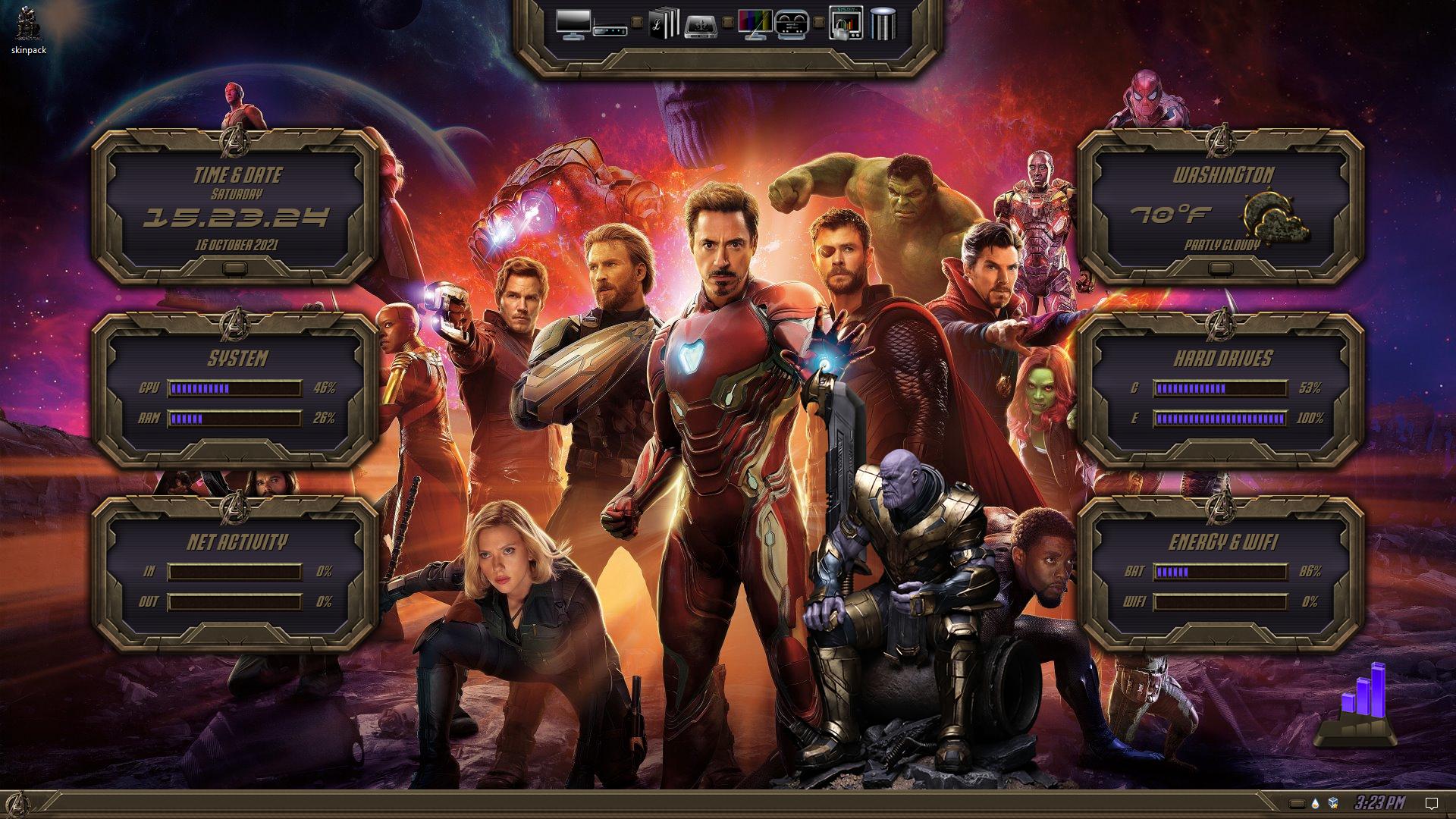 Avengers Premium SkinPack for Windows 10